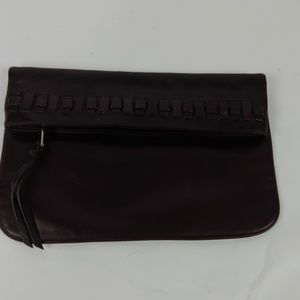 Barneys New York Leather Clutch